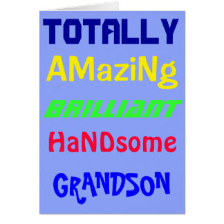 Amazing Brilliant Handsome - Personalized Birthday Card