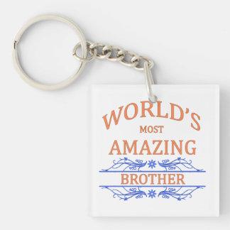 Amazing Brother Single-Sided Square Acrylic Keychain