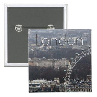 Amazing! Buckingham Palace Millennium Wheel Pinback Button