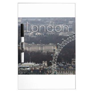 Amazing Buckingham Palace Millennium Wheel Dry Erase White Board