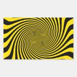 Amazing Bumble Bee Yellow Swirl Customize This Rectangular Sticker