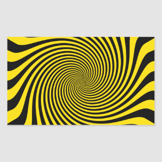 Amazing Bumble Bee Yellow Swirl Customize This Rectangle Stickers