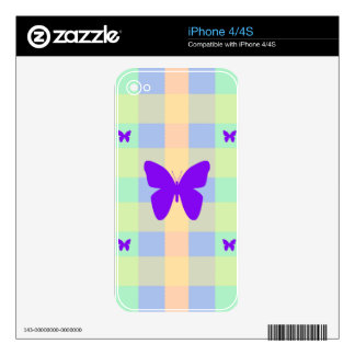 AMAZING BUTTERFLY CELLS DESIGN iPhone 4 SKINS