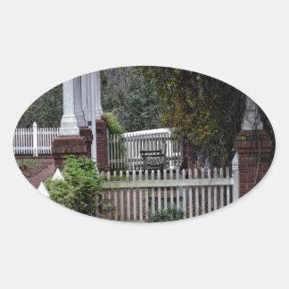 Amazing Calmness Oval Sticker