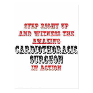 Amazing Cardiothoracic Surgeon In Action Postcard