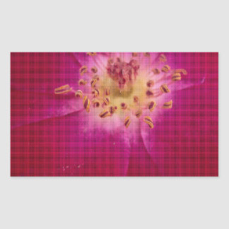 Amazing Checked Rose.jpg Rectangle Stickers