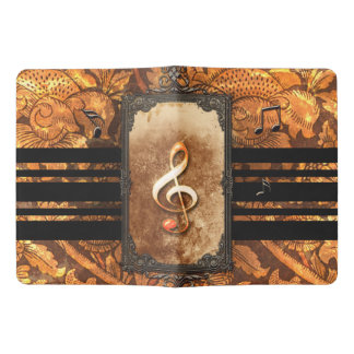 Amazing clef, vintage extra large moleskine notebook cover with notebook