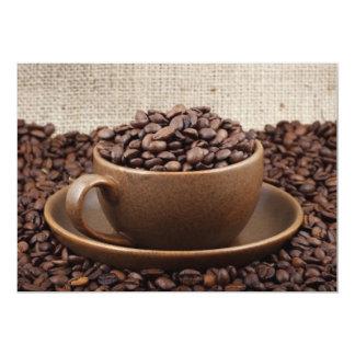 "Amazing coffee 5"" x 7"" invitation card"