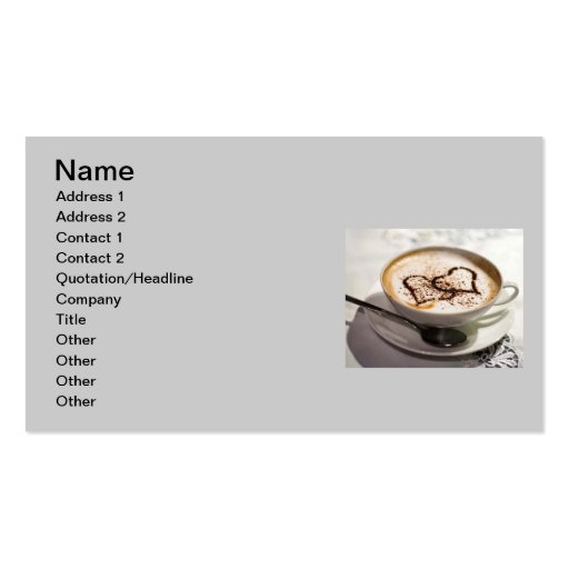 Amazing coffee photo Double-Sided standard business cards (Pack of 100)