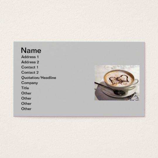 Amazing coffee photo business card