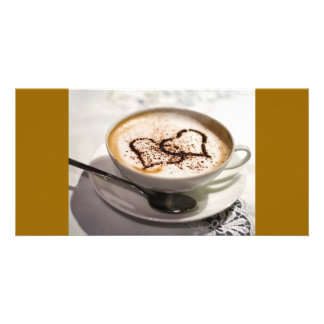 Amazing coffee photo card