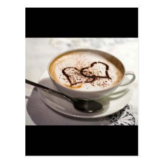 Amazing coffee photo postcard