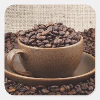 Amazing coffee square stickers