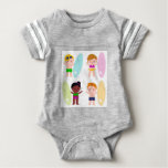 Amazing collection with Surfer Kids Baby Bodysuit