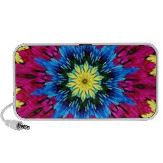 Amazing Color Burst Kaleidoscope Laptop Speakers