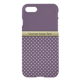 Amazing Color Combination. Violet White Polka Dots iPhone 8/7 Case