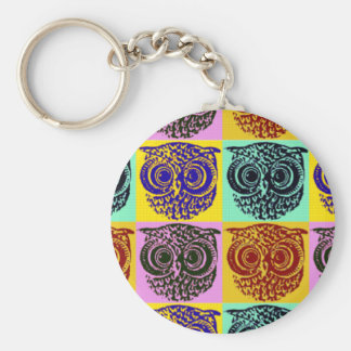amazing color owl pattern key chains
