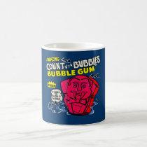 funny, amazing count von bubbles, vintage, bubble gum, advertising, retro, humor, cool, cute, candy, sugar, sweet, fun, bubblegum, vintage advertising, mug, Caneca com design gráfico personalizado