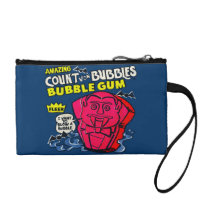 funny, advertising, amazing count von bubbles, vintage, bubble gum, retro, humor, cool, cute, sweet, candy, sugar, fun, bubblegum, vintage advertising, key coin clutch, [[missing key: type_bagettes_ba]] with custom graphic design