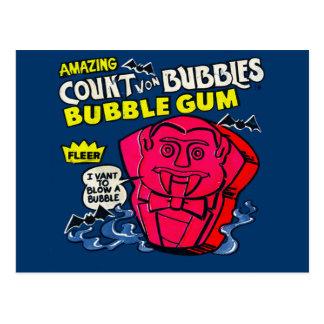 Amazing count von bubbles postcard