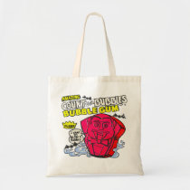 funny, vintage, bubble gum, advertising, retro, humor, count von bubbles, cool, cute, budget tote bag, candy, sugar, sweet, fun, bubblegum, vintage advertising, budget, tote, bag, Bag with custom graphic design