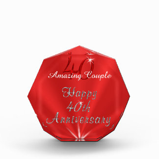 Amazing Couple or NAMES 40th Anniversary Gifts
