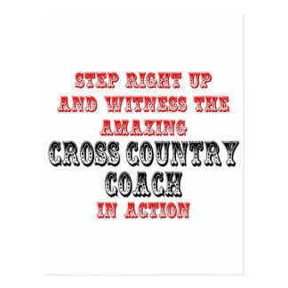 Amazing Cross Country Coach In Action Postcard