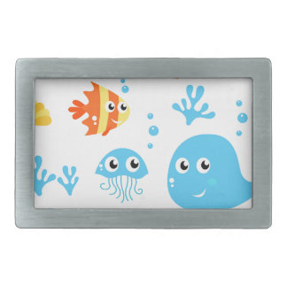 Amazing cute Fishes and Creatures Belt Buckle