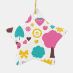 Amazing cute Tshirts edition with Folk birdies Ceramic Ornament