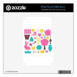 Amazing cute Tshirts edition with Folk birdies iPod Touch 4G Skin