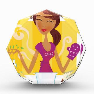Amazing cute Vintage girl in kitchen Acrylic Award
