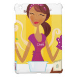 Amazing cute Vintage girl in kitchen Case For The iPad Mini