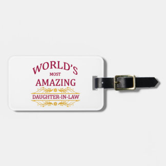 Amazing Daughter-In-Law Tag For Luggage