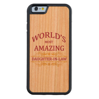 Amazing Daughter-In-Law Carved® Cherry iPhone 6 Bumper