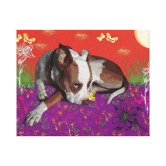 Amazing dog photo on canvas gallery wrapped canvas