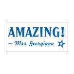 "[ Thumbnail: ""Amazing!"" Educator Rubber Stamp ]"