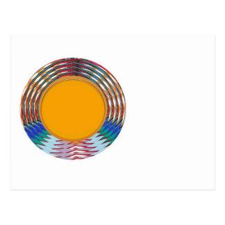 Amazing EMBLEM type DISC Golden DISK n BORDER Postcard