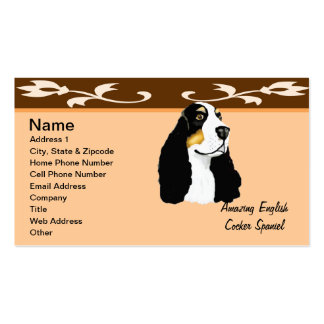 Amazing English Cocker Spaniel Business Card
