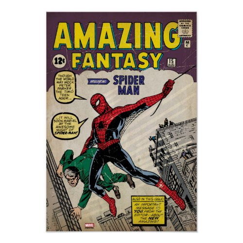 Amazing Fantasy Spider-Man Comic #15 Poster