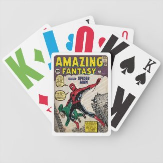 Amazing Fantasy Spider-Man Comic Cover Playing Cards