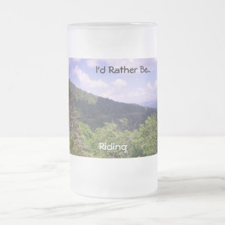 Amazing Far Look At Blue Ridge Frosted Glass Beer Mug