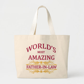 Amazing Father-In-Law Large Tote Bag