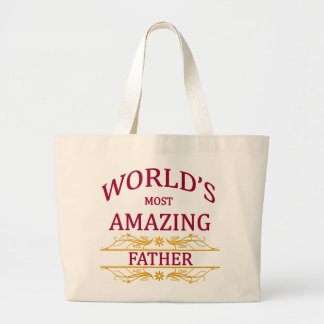 Amazing Father Large Tote Bag
