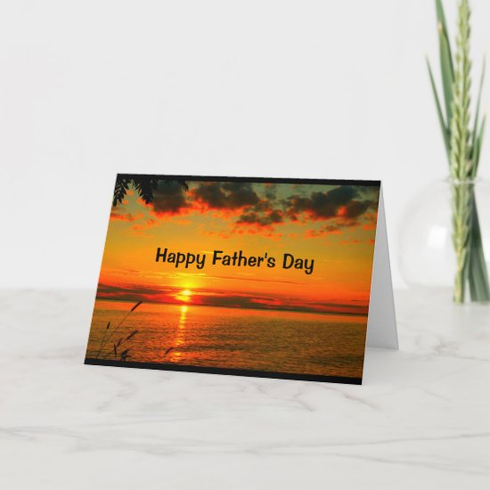 Amazing Father's Day From Sunrise To Sunset Card