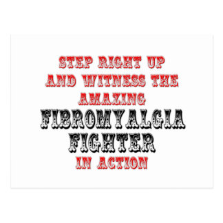 Amazing Fibromyalgia Fighter In Action Postcard