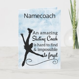 Amazing Figure skating coach thank you card