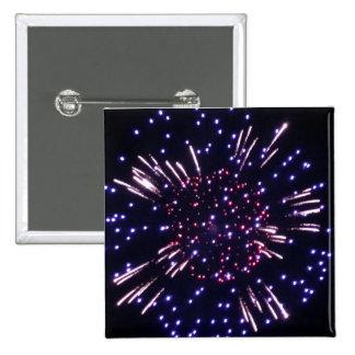 Amazing Firework 2 Inch Square Button Pin Cuadrado