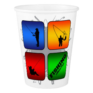 Amazing Fishing Urban Style Paper Cup