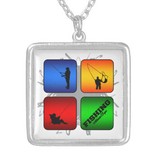 Amazing Fishing Urban Style Silver Plated Necklace