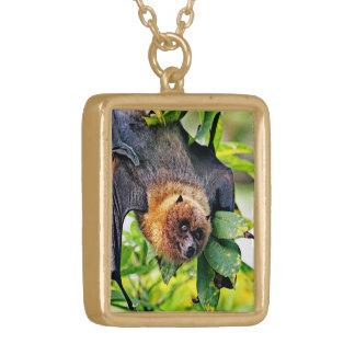 amazing Flight dog - bat Gold Plated Necklace
